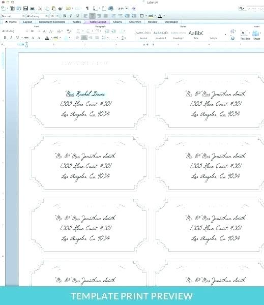 Address Sticker Template Word