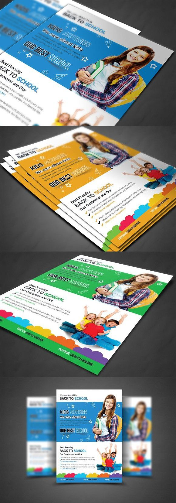 Advertisement Education Flyer Templates