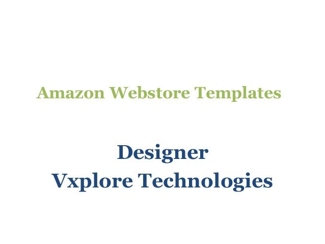 Amazon Webstore Templates