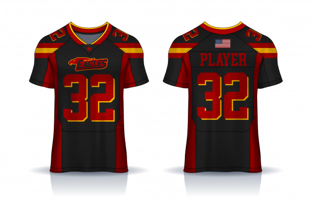 American Football Jersey Design Template