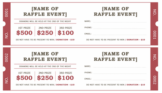 Benefit Ticket Template Free