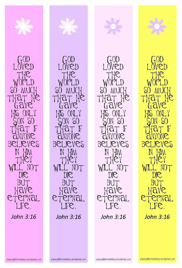 Bible Verse Printable Bookmark Template