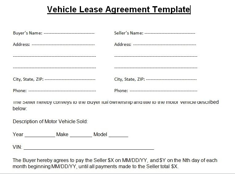 Blank Lease Agreement Template