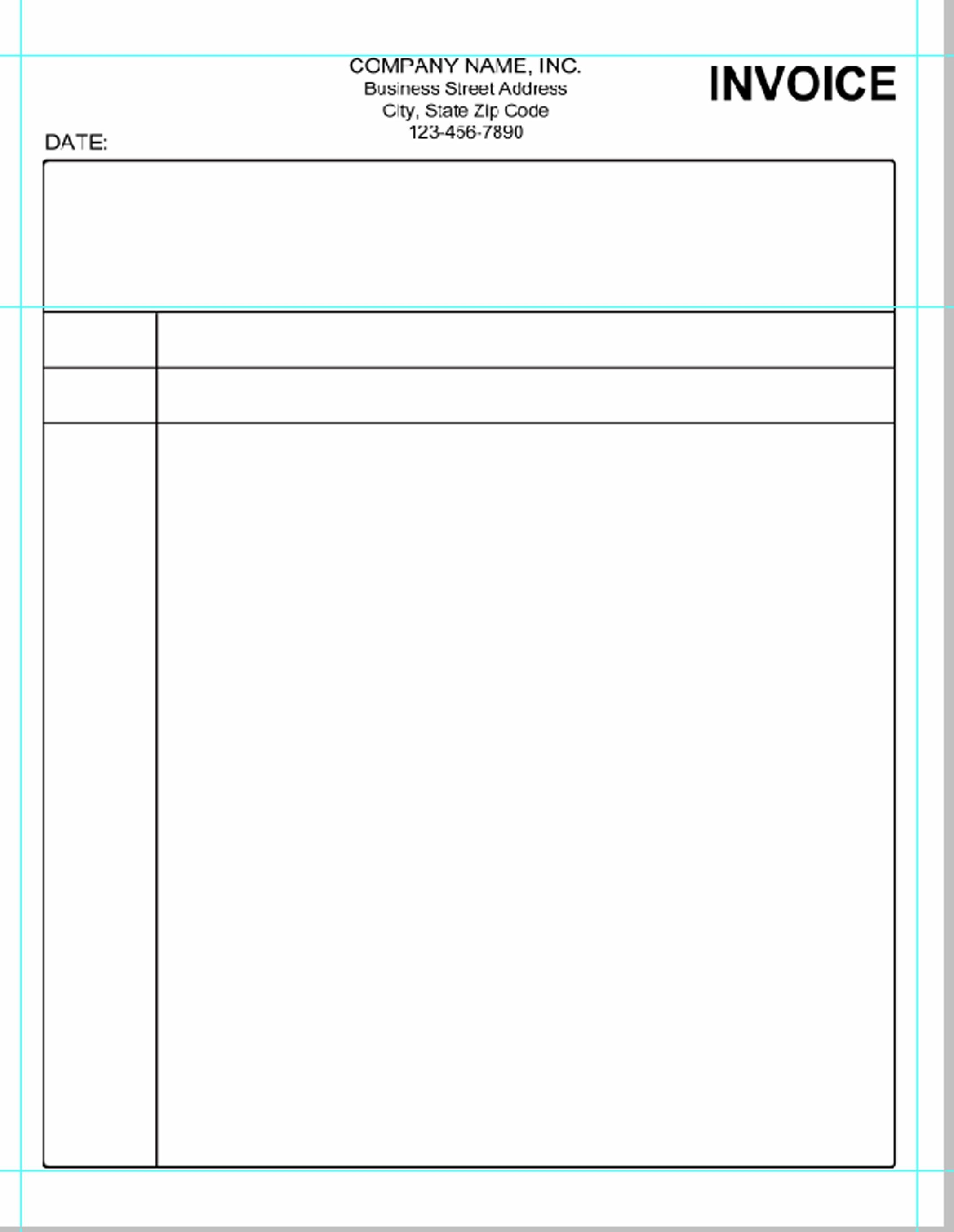 Blank Simple Invoice Template Word Free