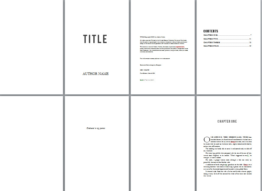 Book Formatting Templates Free
