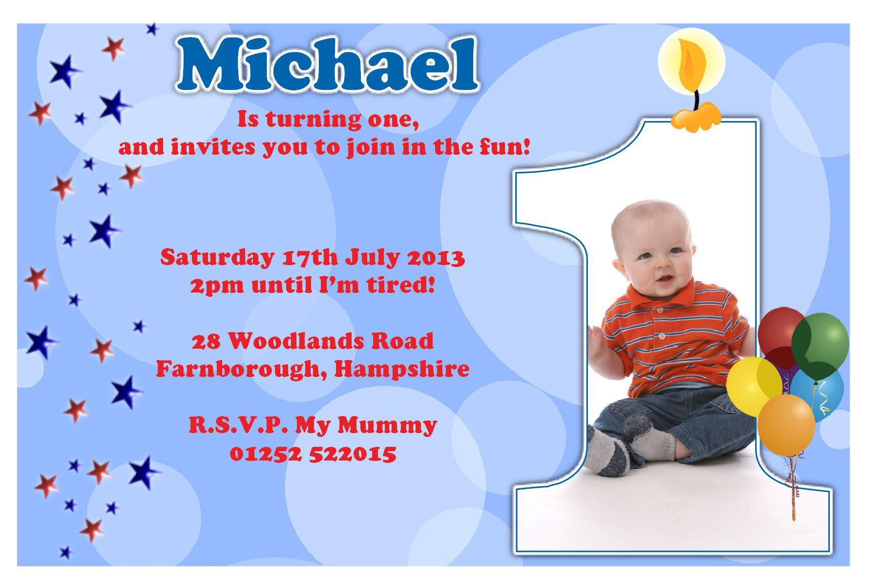 Boy Birthday Party Invitation Templates