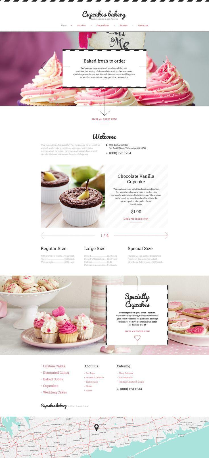 Cake Website Template