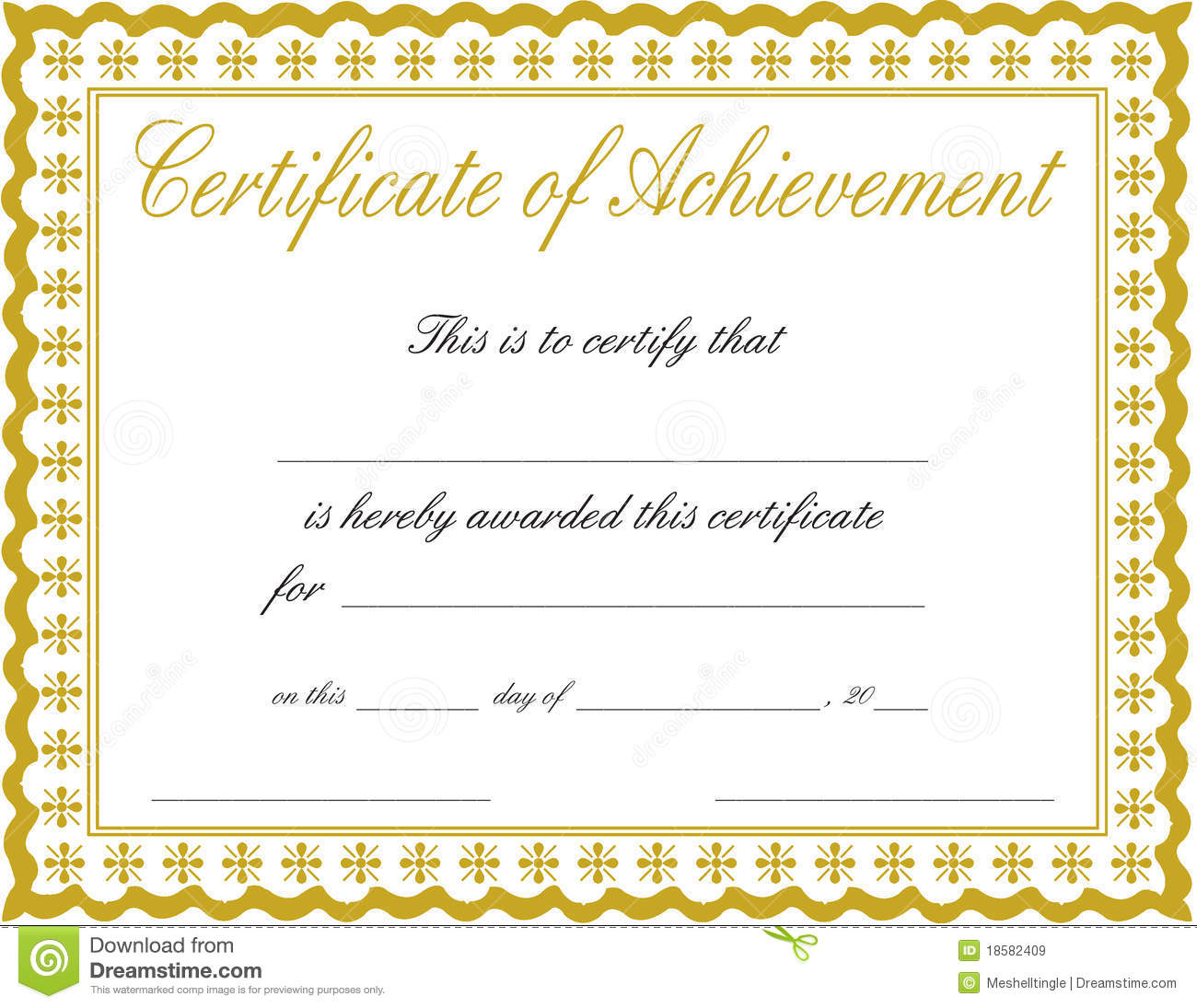 Certificates Of Achievement Templates Free