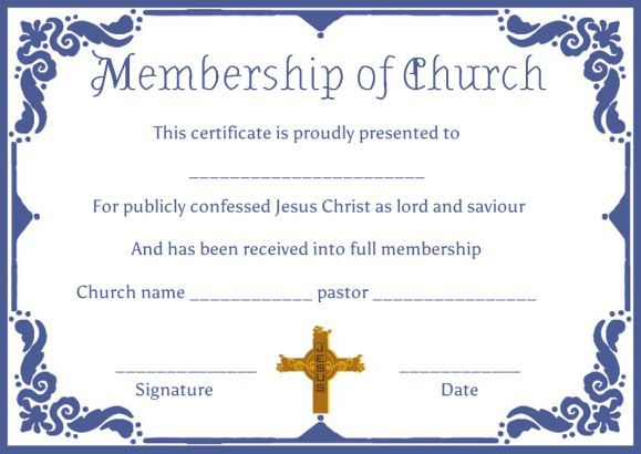 Church Certificate Templates
