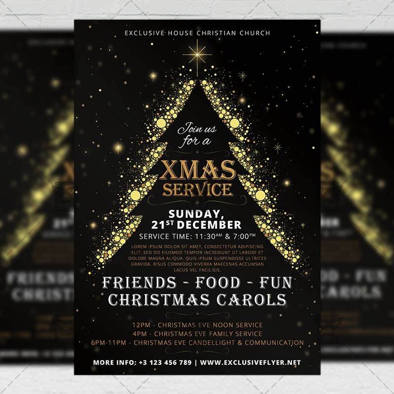 Church Service Free Church Flyer Templates