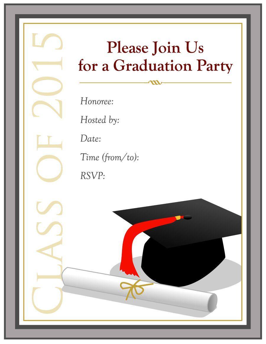 College Graduation Invitation Templates Free