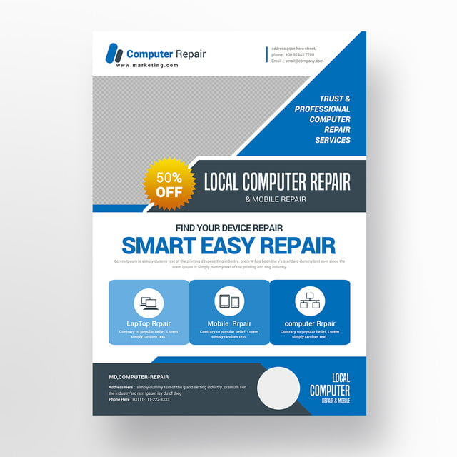 Computer Repair Flyer Template Free