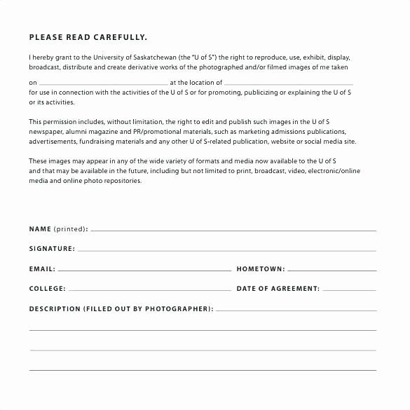 Consent Social Media Photo Release Form Template
