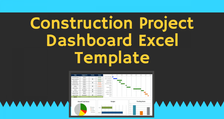 Construction Project Dashboard Excel Template