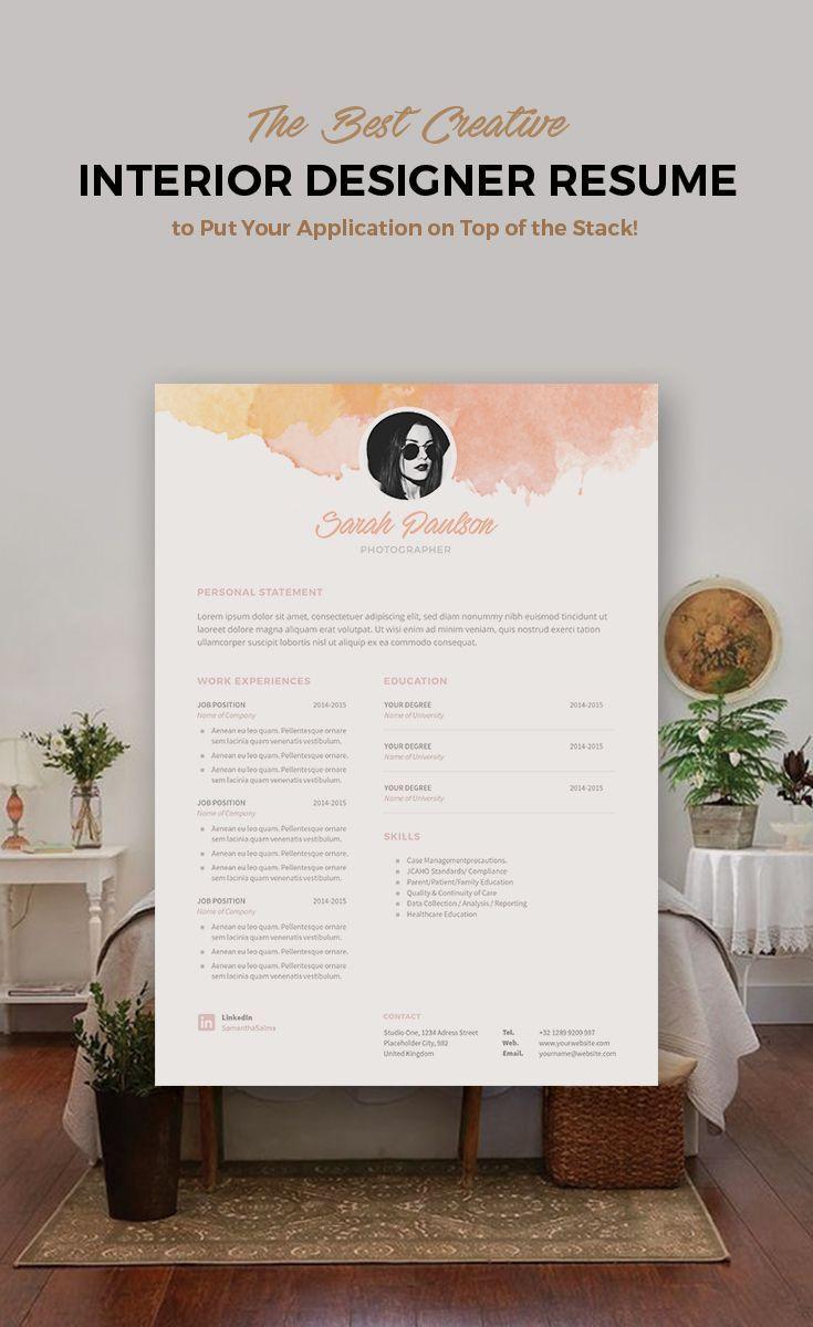 Creative Interior Design Resume Template