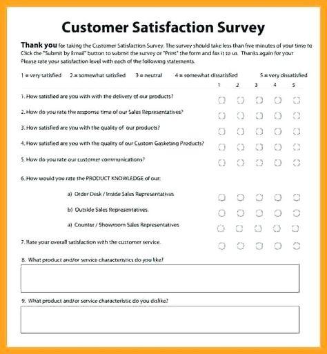 Customer Feedback Survey Templates Free