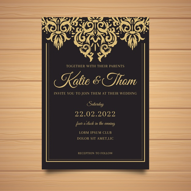 Damask Invitation Template