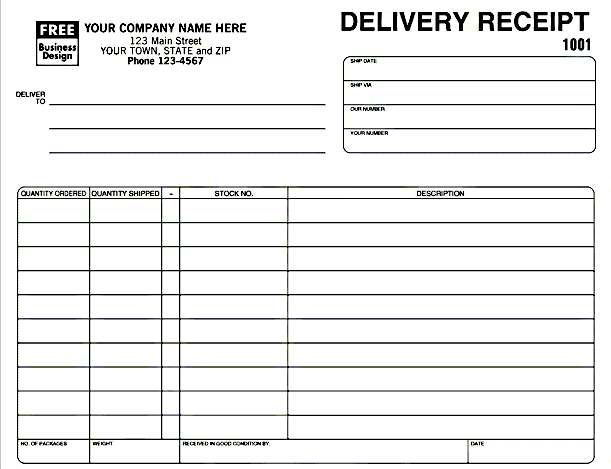 Delivery Invoice Template Excel