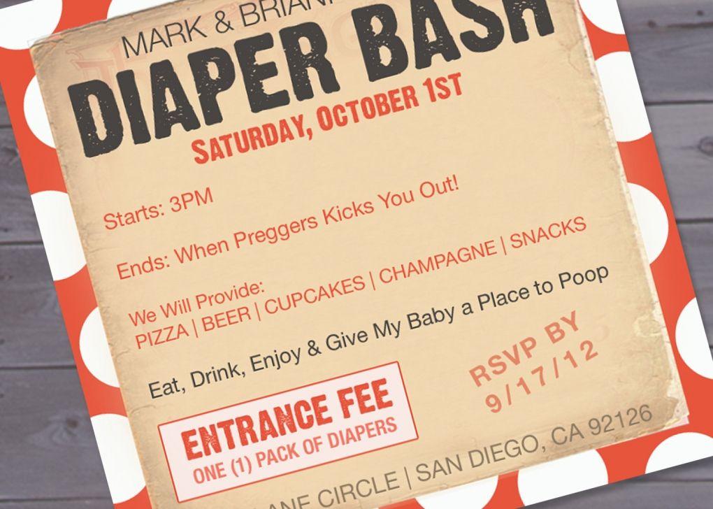 Diaper Party Invitation Template