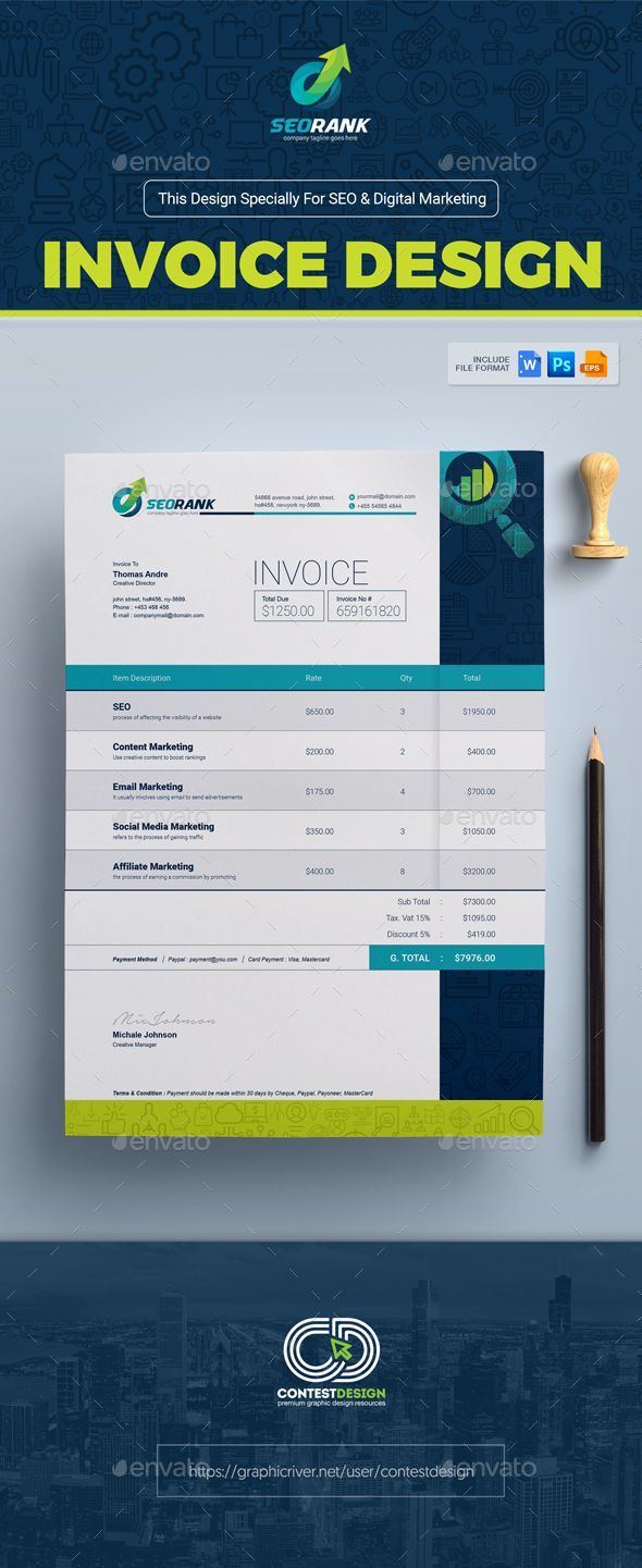 Digital Marketing Invoice Template