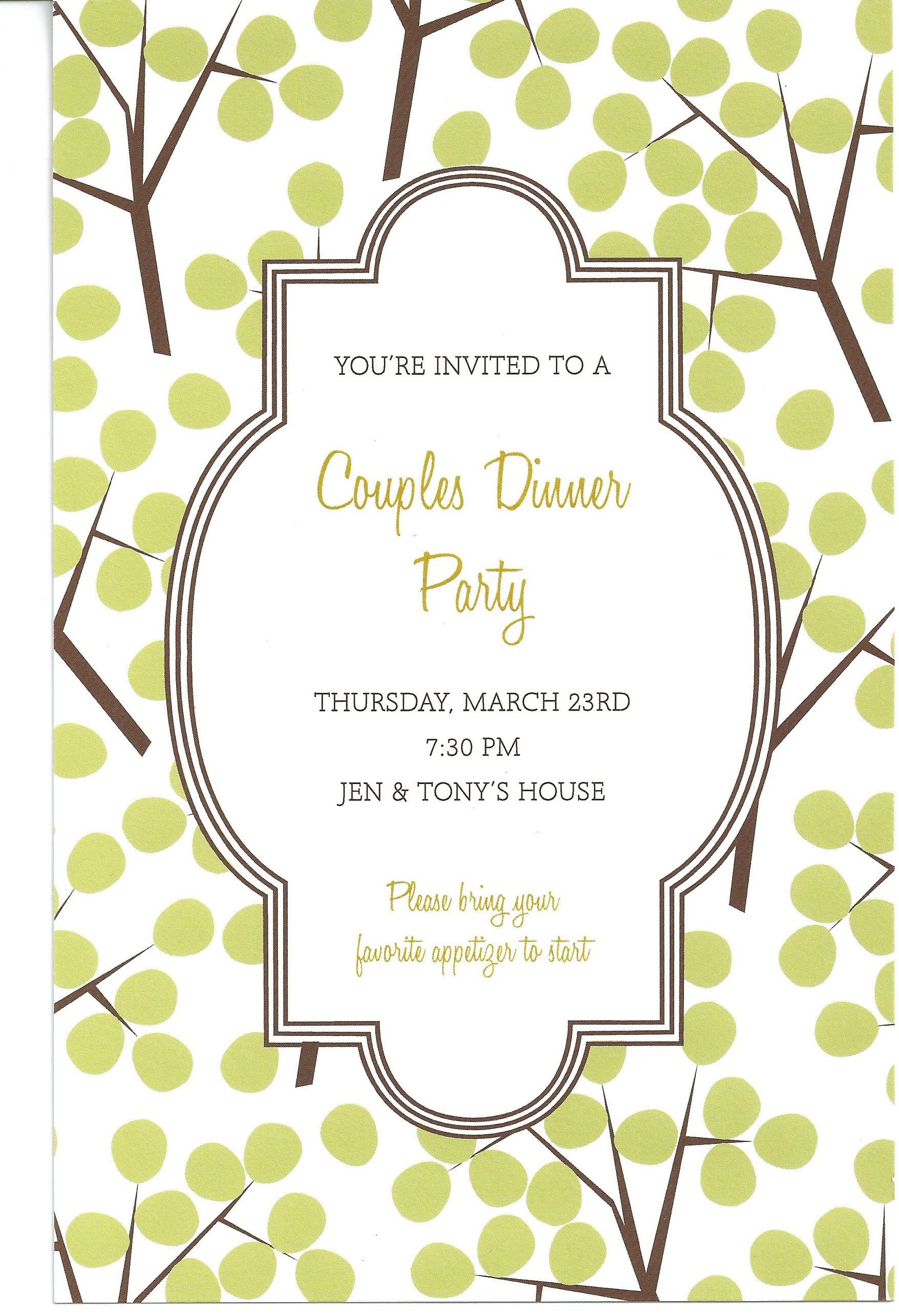 Downloadable Free Dinner Invitation Template