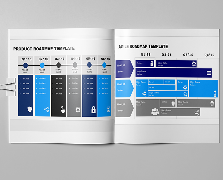 Downloadable Product Roadmap Template Powerpoint