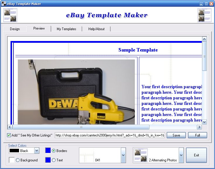 Ebay Template Maker