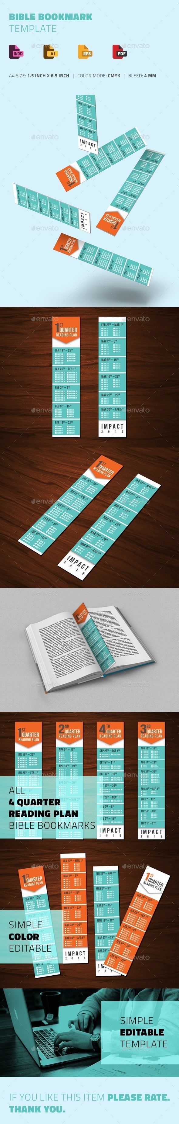 Editable Bible Bookmark Template