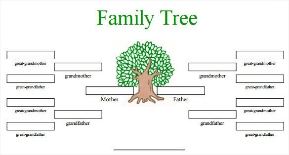 Editable Free Family Tree Template Word