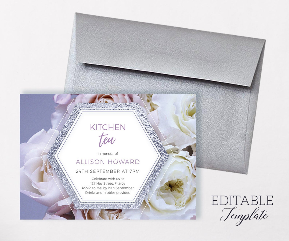 Editable High Tea Invitation Template