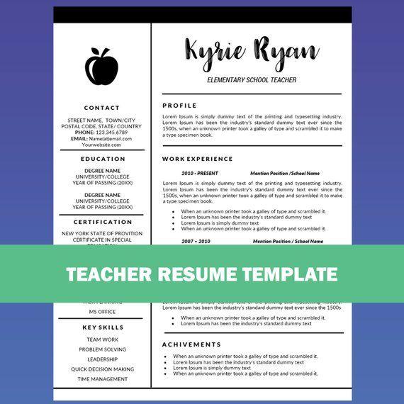 Education Resume Template Word