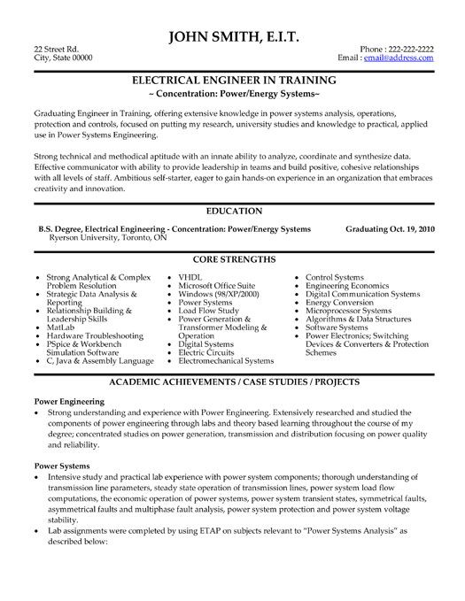 Electrical Resume Template Download