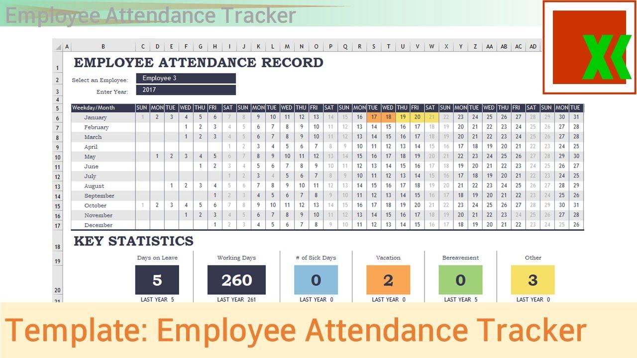 Employee Attendance Template Excel