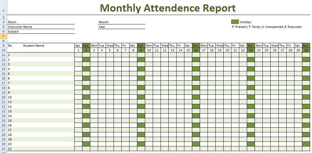 Employee Daily Attendance Employee Attendance Sheet Template
