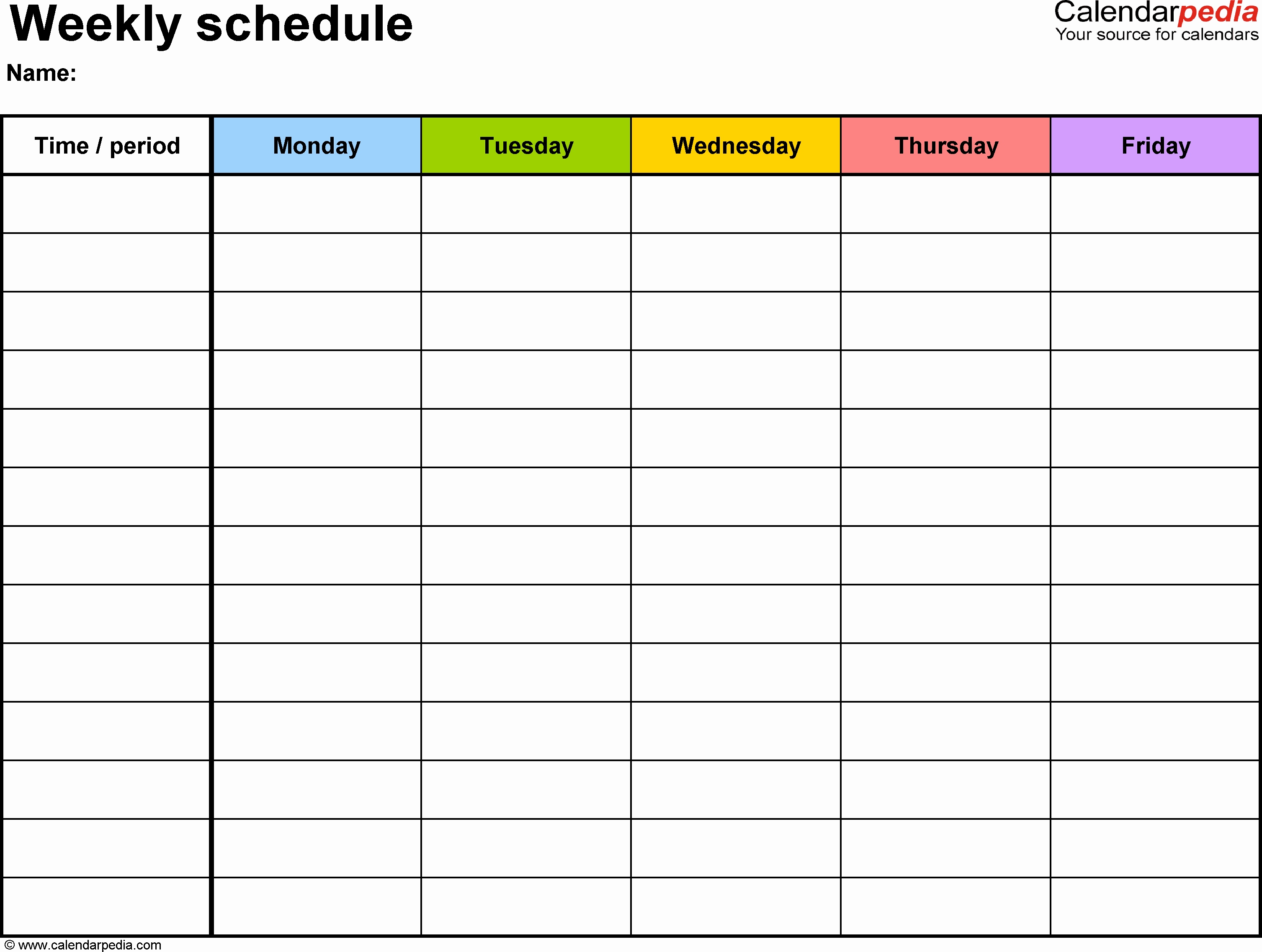 Employee Schedule Calendar Template