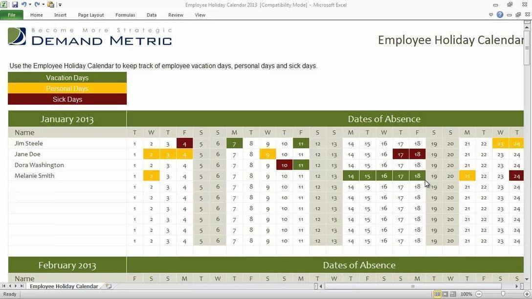 Excel Daily Shift Schedule Template