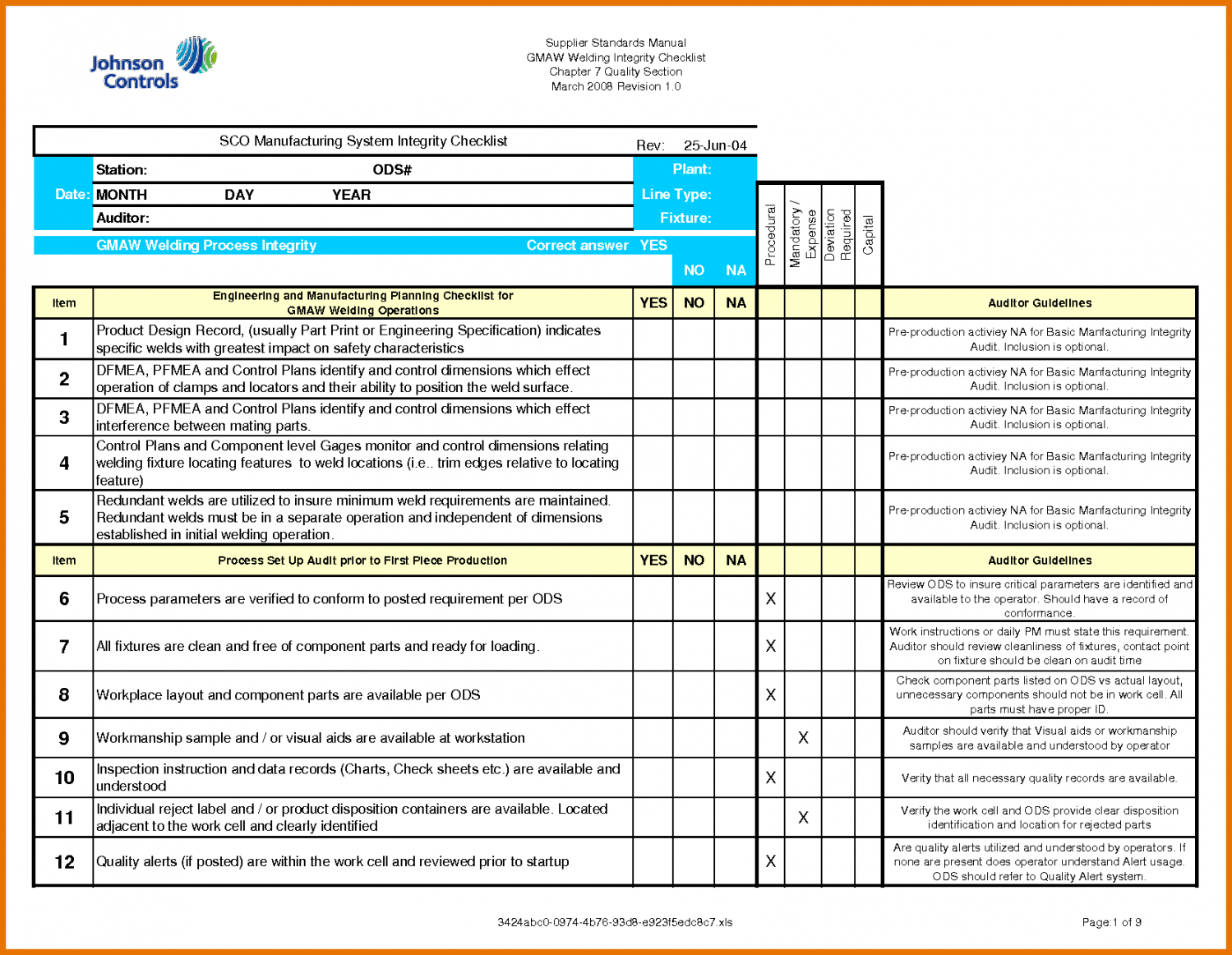 Printable Audit Checklist Template Internal Mat Hr Excel Financial Qms Sample Internal Financial Audit Checklist Template