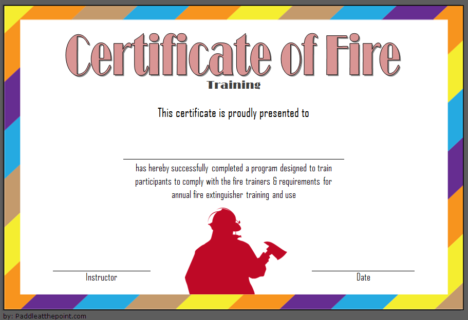 Fire Safety Training Certificate Template