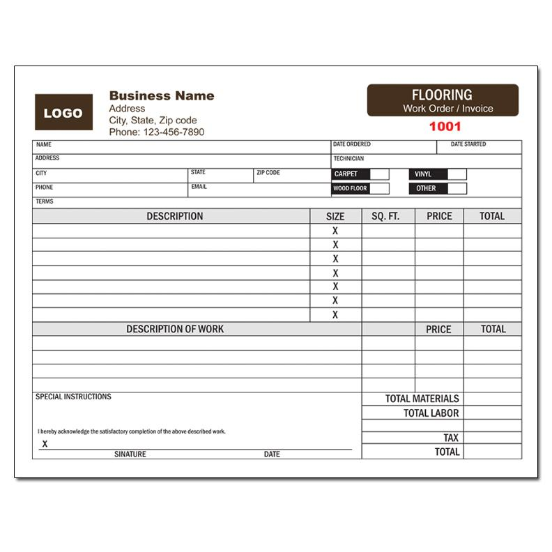 Flooring Installation Flooring Invoice Template