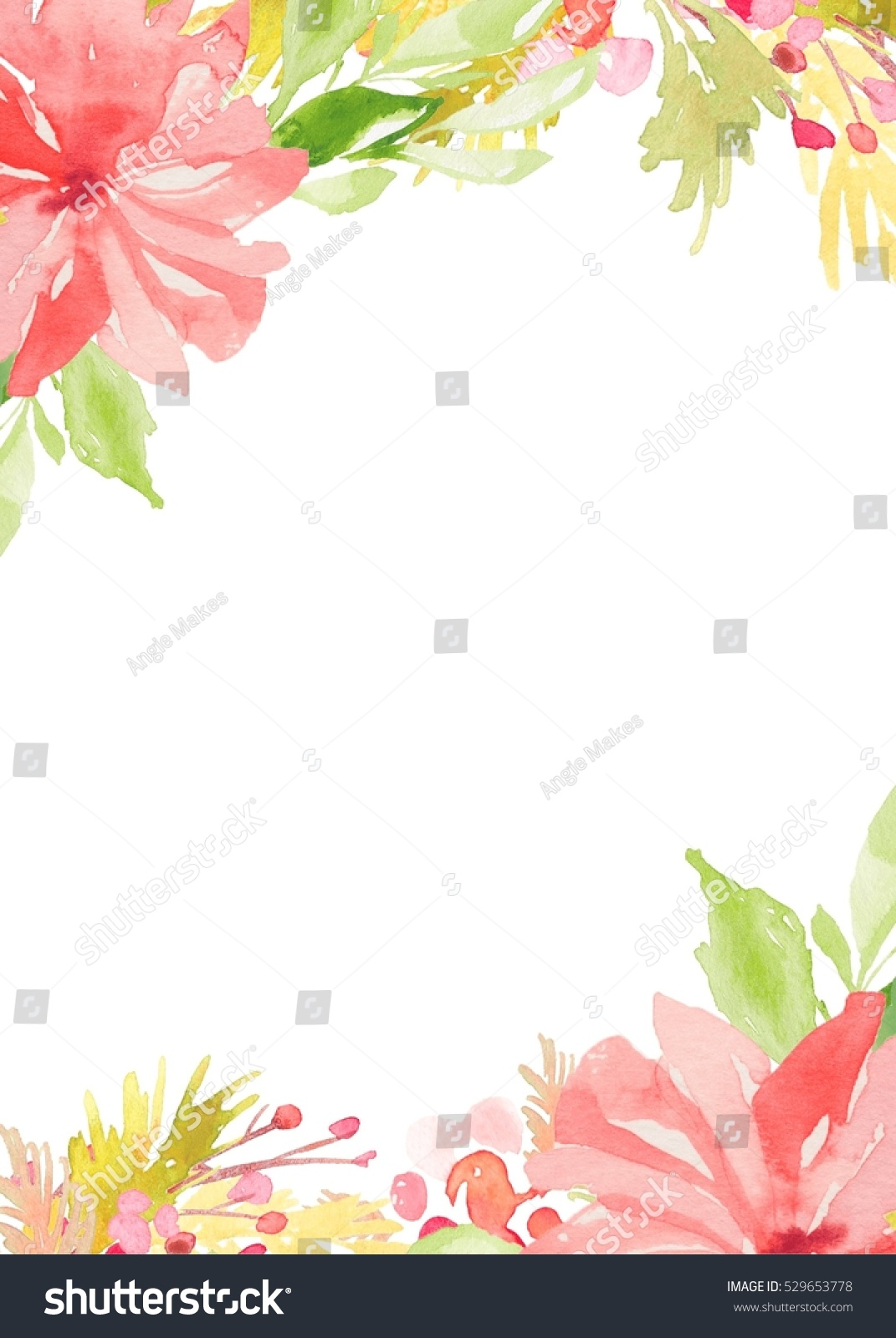 Flower Invitation Template Blank