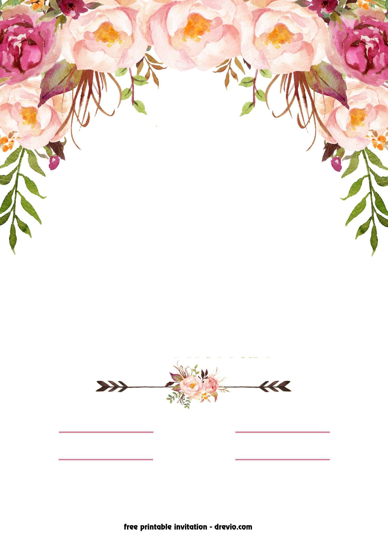 Flower Invitation Template Free
