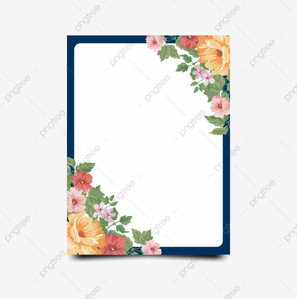 Flower Invitation Template Png