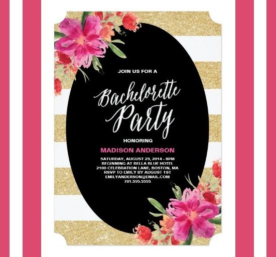 Free Bachelorette Invitation Templates