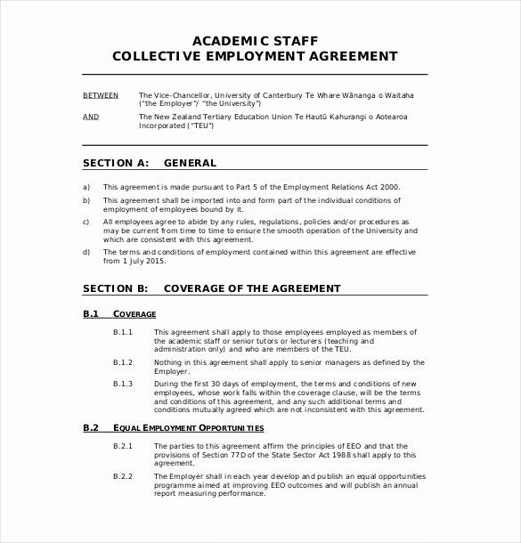 Free Basic Employment Contract Template