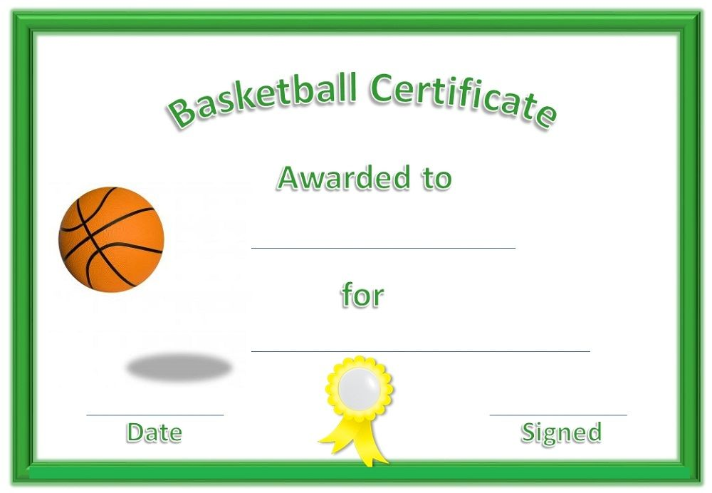 Free Basketball Award Certificate Templates