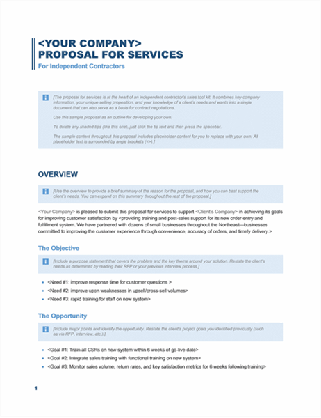 Free Business Proposal Templates For Word