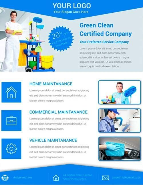 Free Cleaning Flyer Templates Download