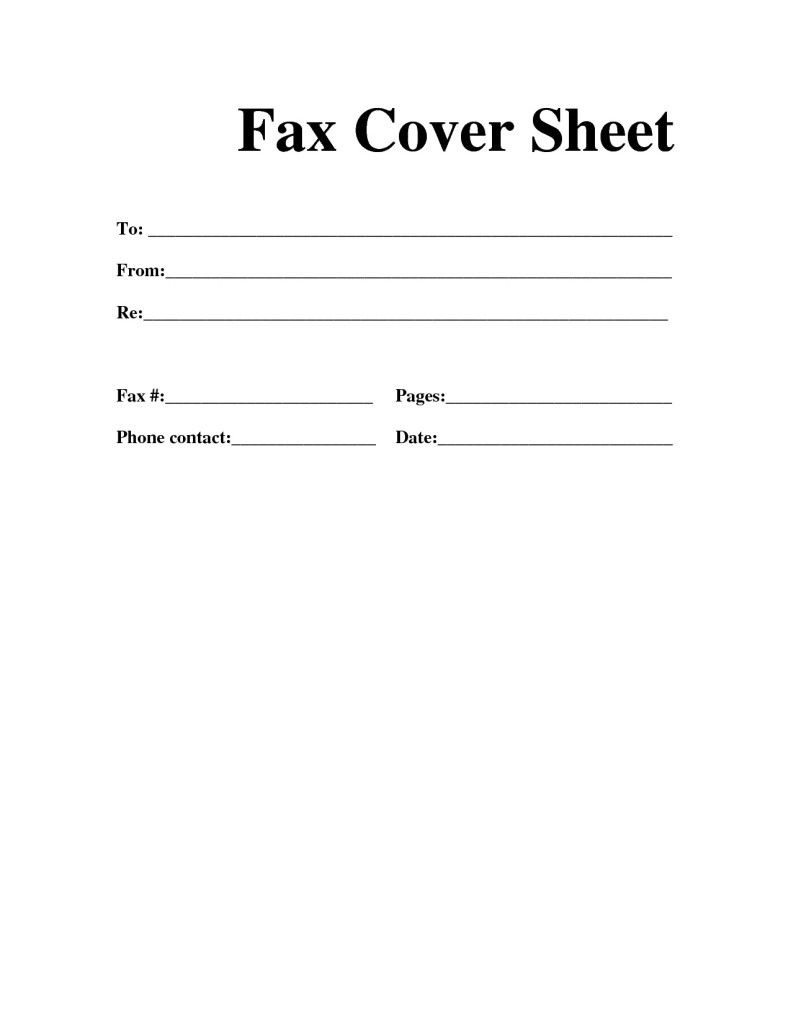 Free Fax Template For Word