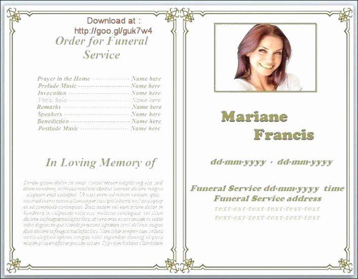 Free Funeral Programs Templates Microsoft Word