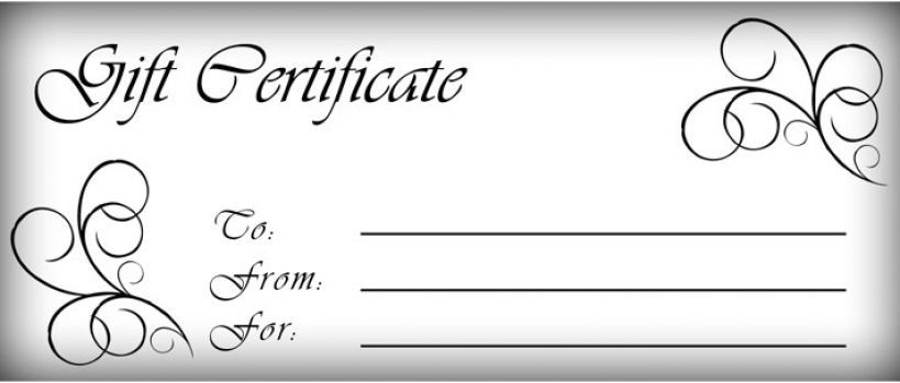 Free Gift Certificates Templates Printable